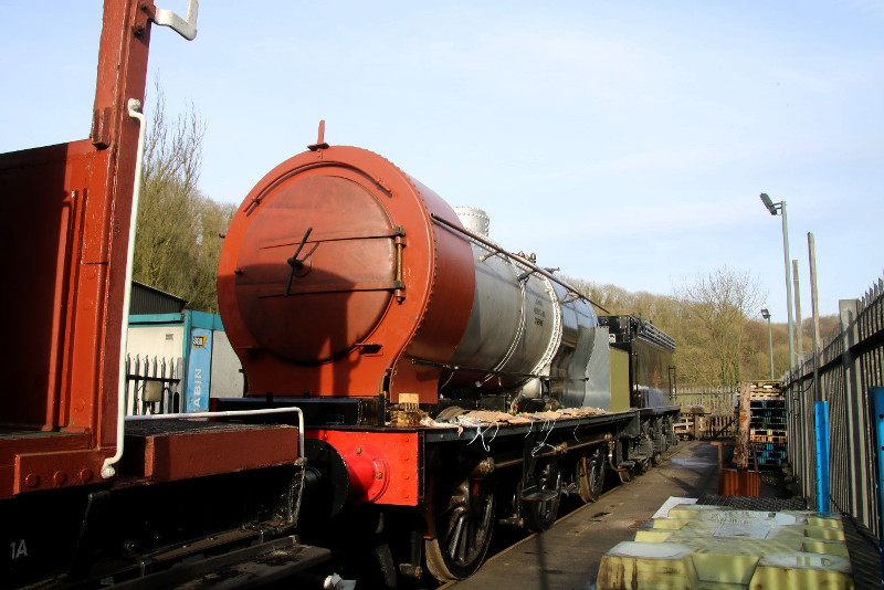 On Saturdsy 17th February the locomotive and tender can be seen joined together over the pit at New Bridge - Dave Pennock
