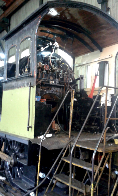 The cab is now attached and work preogressing with the pipework - Chris Lawson