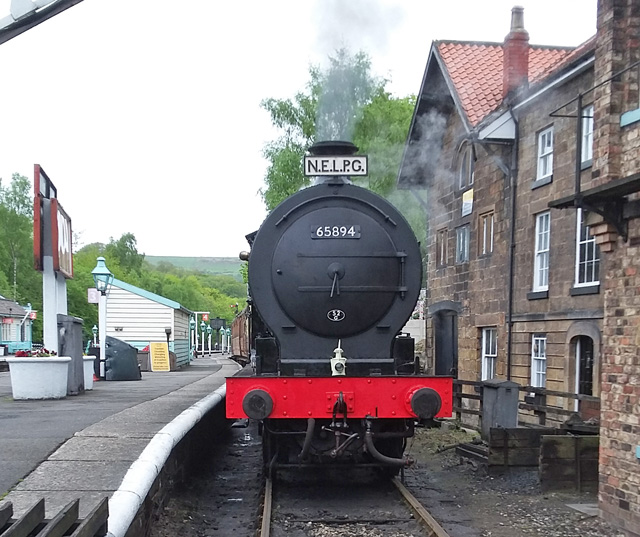 J27 stands at Grosmont awaiting the off for a light engine run to Goathland 16 May 2018 - Ian Pearson