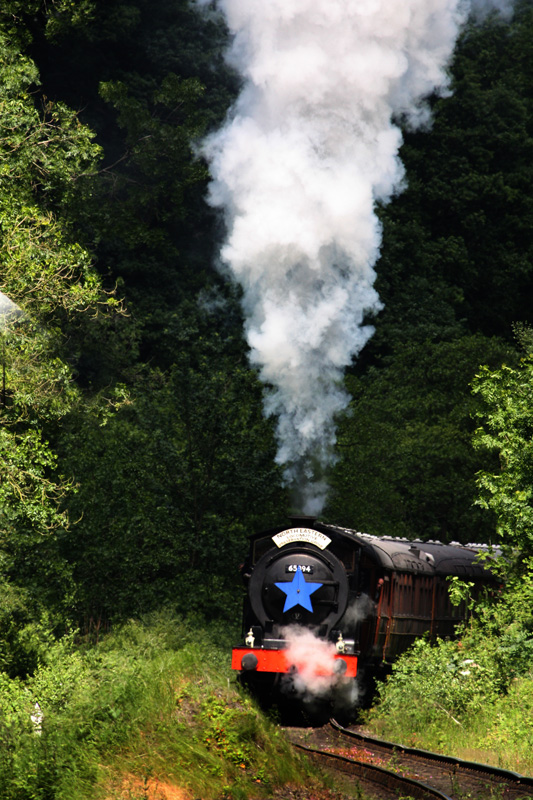 J27 on climb to Goathland on launch train - Maurice Burns