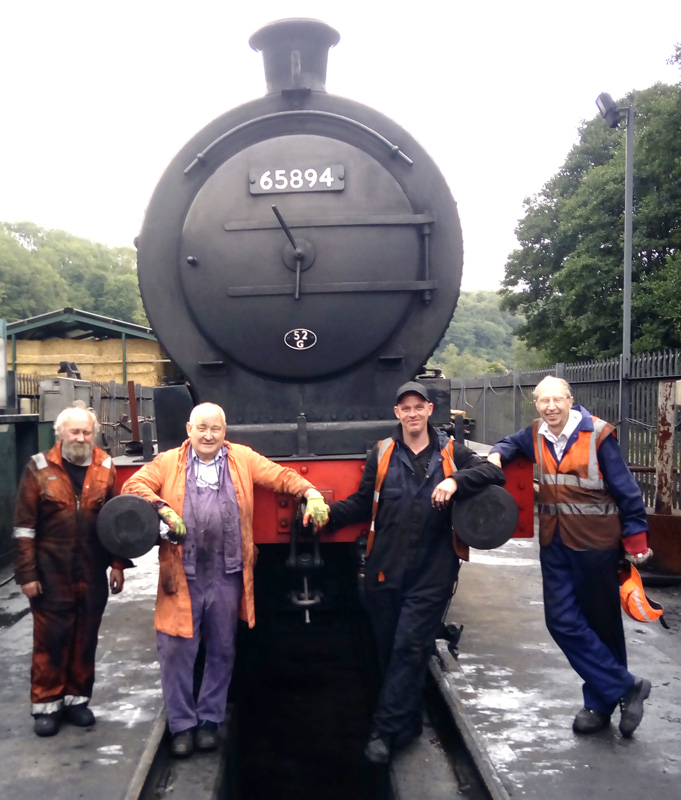 Coupled up to the tender ready for a warming fire with Mushroom, Chris Cubit, Wickham and Les Harper - Rpy Marshall