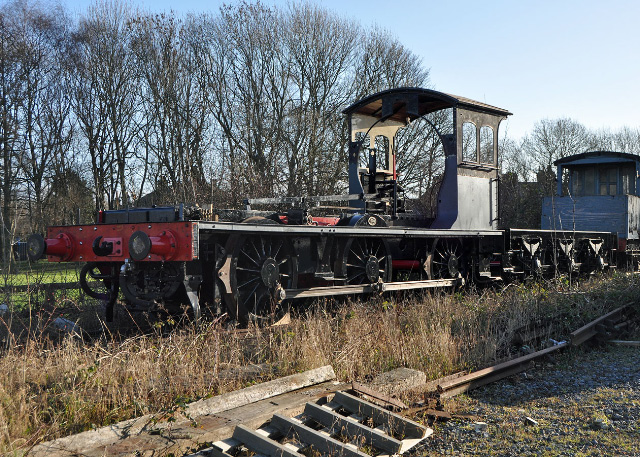 Both J27 loco frames and tender parked against the brake van at the Museum station - Colin Smith