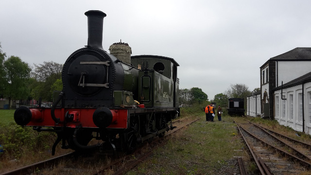 The J72 on the running line with the J27 tender in the head shunt  - Nigel Hall
