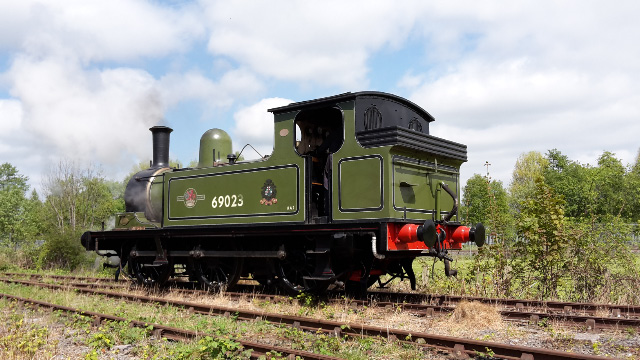 Free at last, the J72 trundles along the running line - Nigel Hall