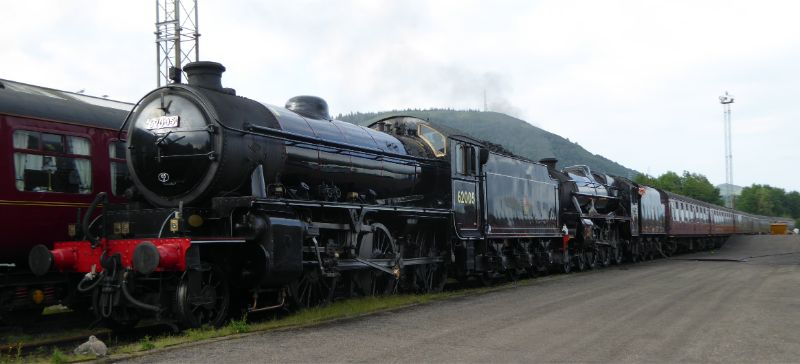 At Fort William depot double heading with Black 5 45407 - Steve Hyman