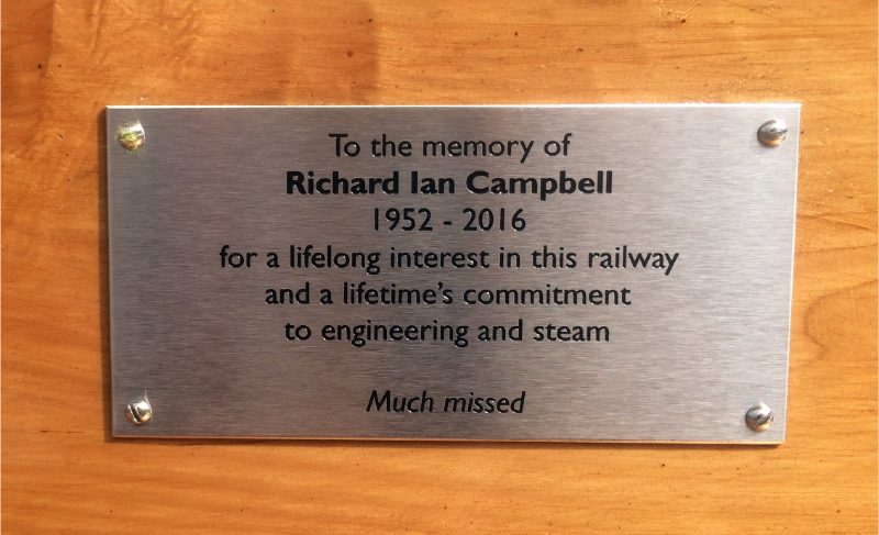Glenfinnan Richard Campbells Bench plate - John Midcalf
