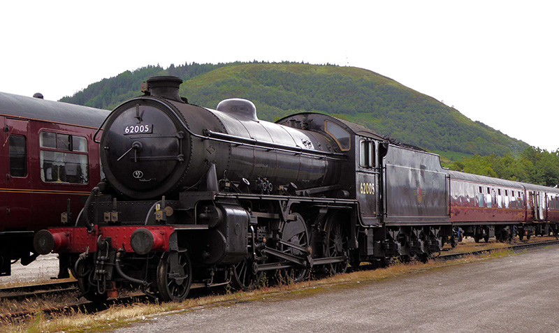 62005 at Fort William Depot on 14 July 2020. - Graham Maxtone