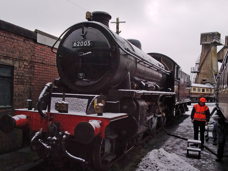 K1 in the snow at Carnforth on 23th January 2021 - Paul Hutchinson