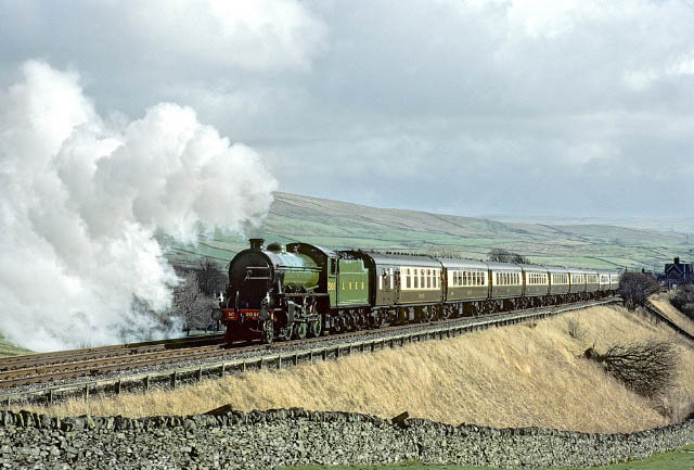 2005 on the Settle and Carlisle at Horton in Ribblesdale, March 1983