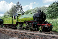 2005 at Grosmont shows off its newly applied Apple Green Livery, June 1974