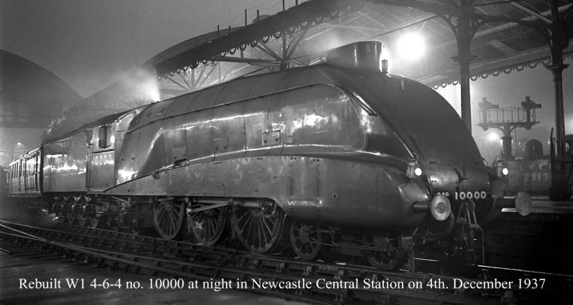 Rebuilt W1 10000 at Newcastle Central