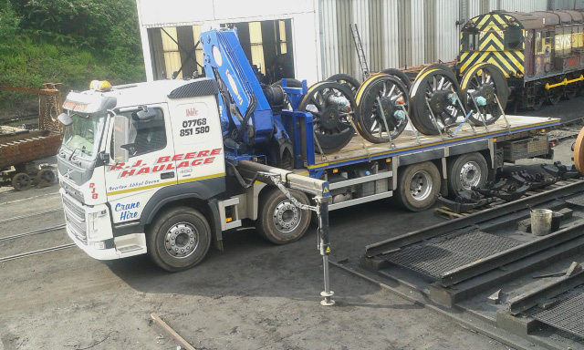 Q6 wheel sets loaded up and ready to go to South Devon Engineering - Chris Lawson