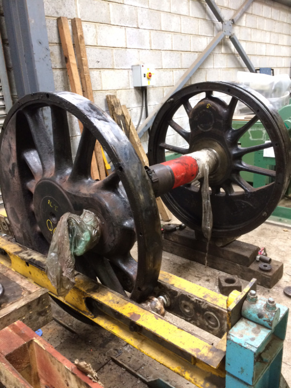 A Q6 wheel set with tyres removed - Rob Le Chevalier