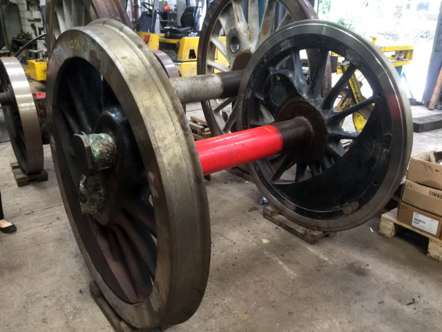 The dinal complete wheelset at South Devon Railway - Mark O Brien