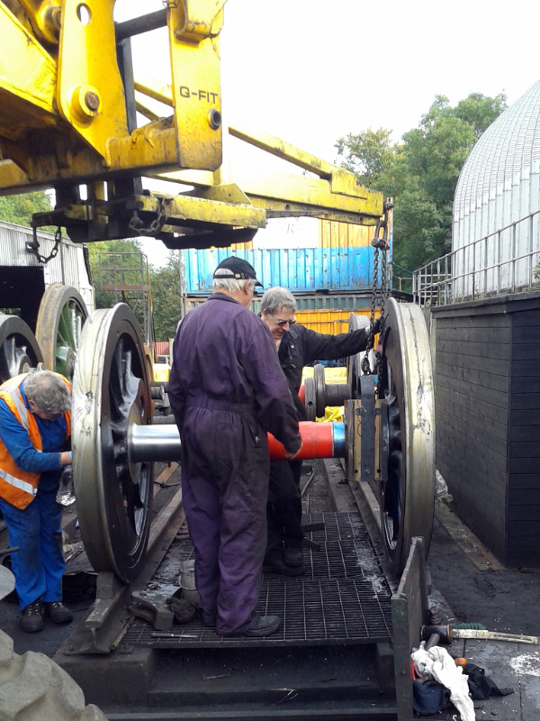 Fitting the Q6 axleboxes at Grosmont - Chris Lawson