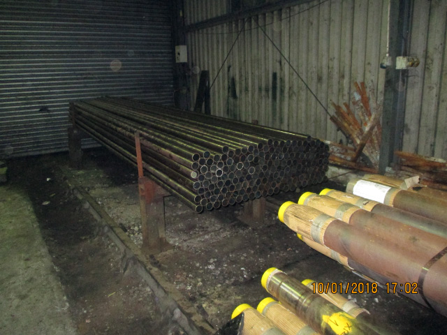 Q6 small tubes stacked ready for annealing at Deviation Shed 10 January 2018 - Ian Pearson