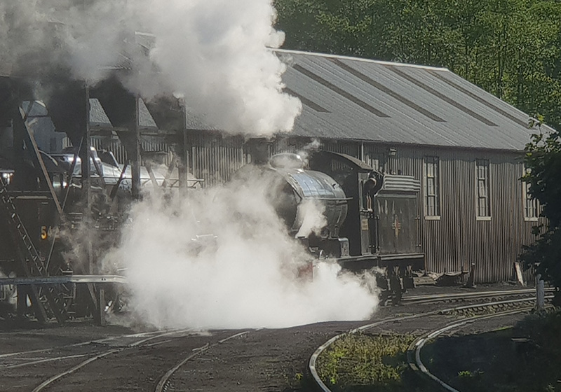 Q6 on the move, without drain cocks! Deviation Shed, Grosmont - Nigel Hall.