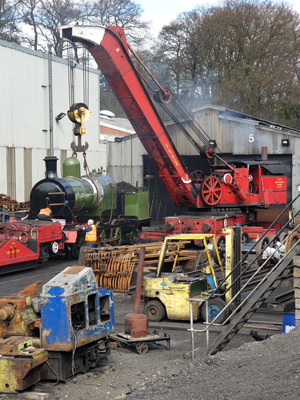 No 29's boiler lift 10 April 2019 - Nigel Hall