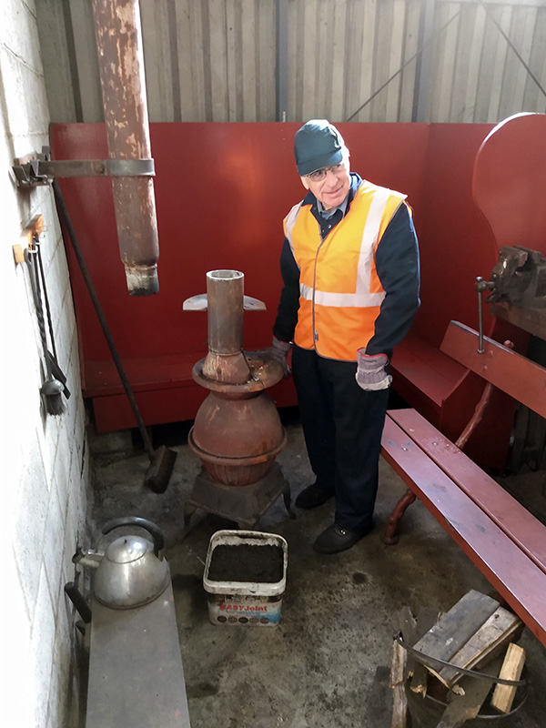 Deviation Shed stove after cleaning flue with Steve Hyman on 30 October 2019 - Chris Lawson.