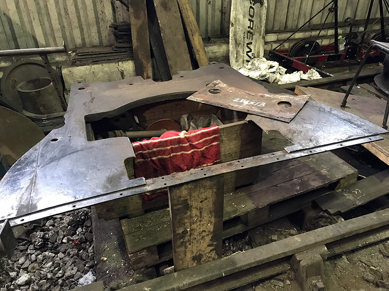 63395 damaged section cut out of lower back head sheet on 25 August 2020 -Ian Pearson