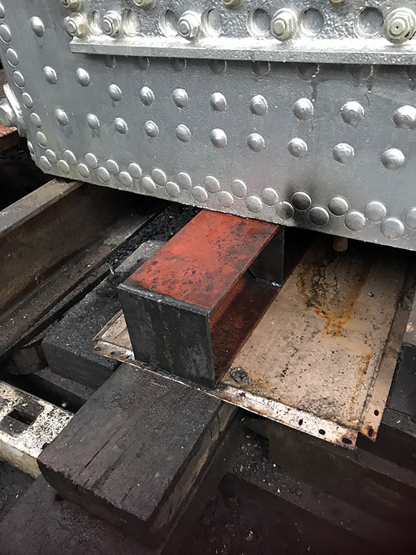63395 replacement steel beam fitted under the foundation ring on 5 January 2021 - Ian Pearson