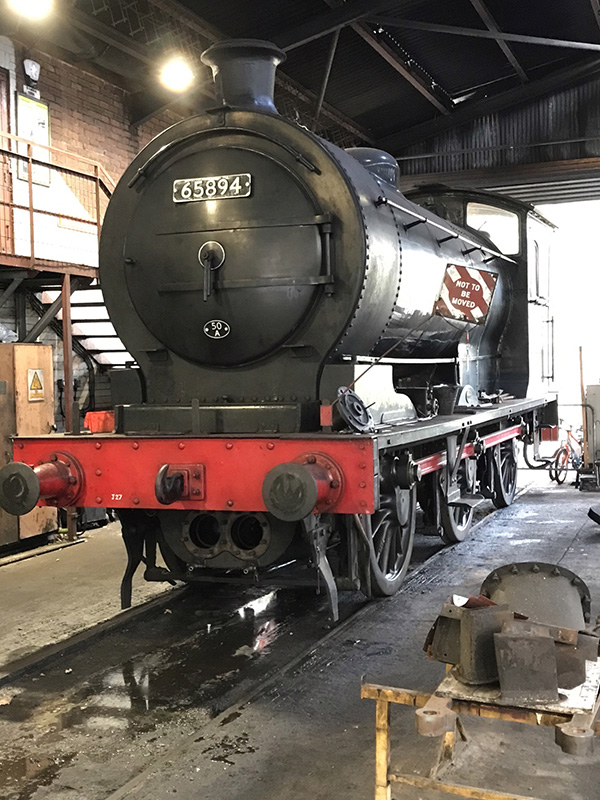 65894 standing on No 4 Road at the MPD on 24 February 2021 to allow the buffer beam to be removed and the cylinders rebored - Ian Pearson