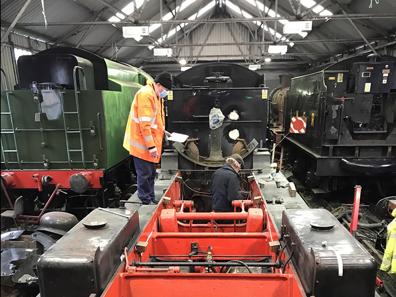 63395 measuring up pipe runs for new lubrication system - Ian Pearson