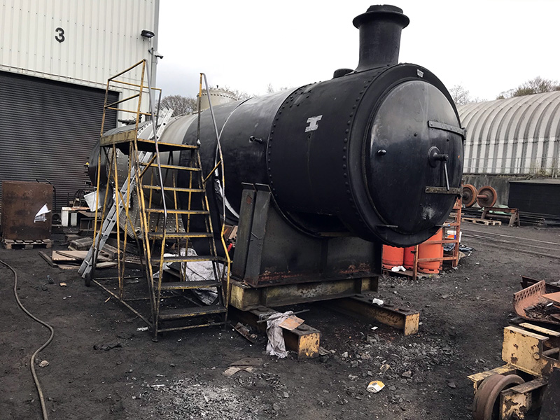 63395 progress with fitting cladding on 27 April 2021 - Ian Pearson