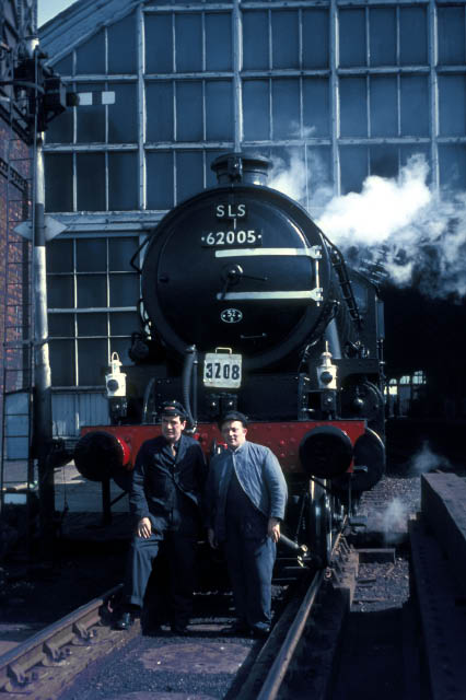 With care, the crew pose at Stockton. The paint on the buffer beam and buffers is still wet.