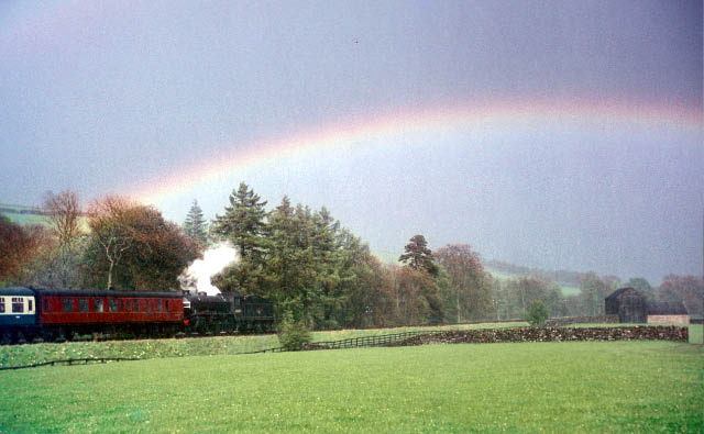 Departing Westgate under a rainbow.